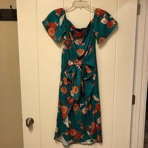 Show Me Your Mumu Floral Print Bird Midi Dress XS